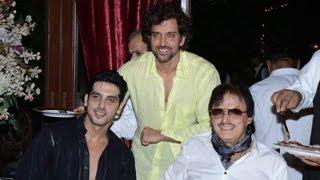 Hrithik Roshan, Suzzane, Kajol at Zarine Khan