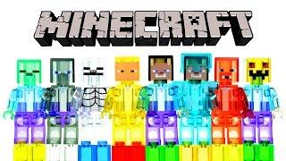 LEGO Minecraft Transparent KnockOff Minifigures Diamond Steve Enderman Zombie