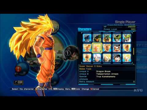 Dragon Ball Z Battle of Z All Characters List HD