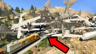 CAN 100+ TITANS STOP THE TRAIN IN GTA 5?