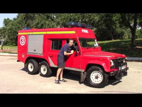 I Drove a 6 Wheel Drive Land Rover Fire Truck