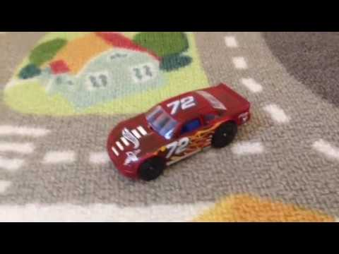Hot Wheels race car on city track trailer