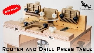 DIY   Portable Router Table and Drill Press Table 2 in 1   With Plans