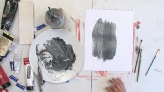 How to Make Silver Paint : Painting Techniques