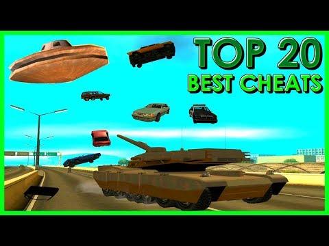 GTA San Andreas Top 20 Cheats