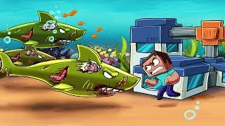 Minecraft | ZOMBIE JAWS BASE DEFENSE - Zombie Sharks Attack! (Underwater Base)