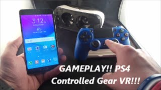 Gear VR Gameplay With PS4 Controller! | though not perfect