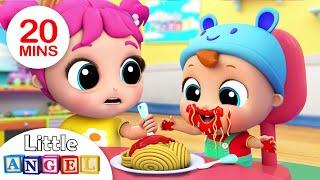 Yum Yum, Baby Loves Spaghetti   Nursery Rhymes & Kids Songs- Little Angel
