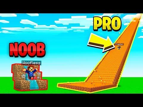 MINECRAFT NOOB vs PRO GIANT SLIDE CHALLENGE