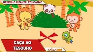 Desenho Infantil Educativo Animazoo! Caça Ao Tesouro - Episódio Completo   Primeira Temporada