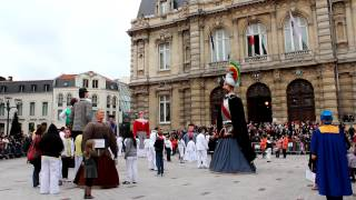 Week-end géants 2012 Tourcoing - rigodon des géants - partie 1