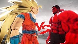 GOKU VS RED HULK - EPIC BATTLE