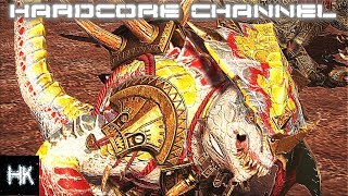 Total War Warhammer 2 - Империи смертных прохождение Hardcore Людоящеры =13= Хамелеон