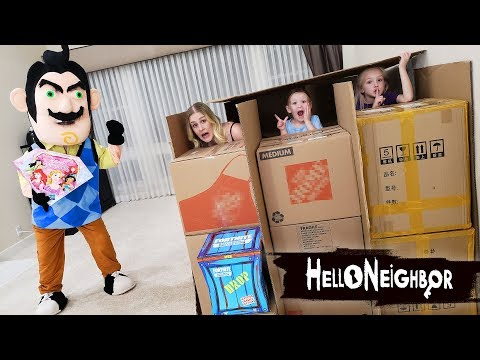 Hello Neighbor in Real Life Toy Scavenger Hunt Disney Princess Gem Collection Toys