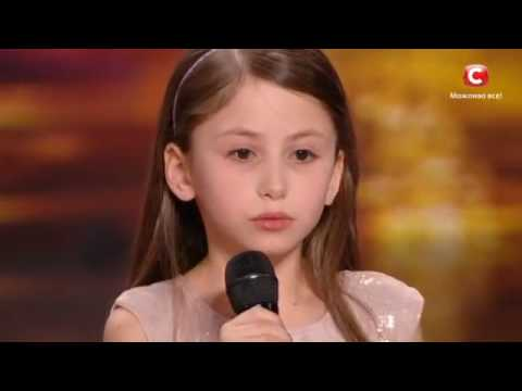 9 years old girl sings song from cartoon on Ukraine s Got Talent