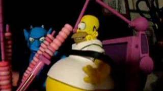 Homer Eats Donuts In Hell!