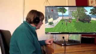 EVA Park, virtual world for people with aphasia: Teleporting to the bar!