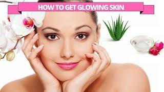 Glowing skin secret with aloe vera & rosewater