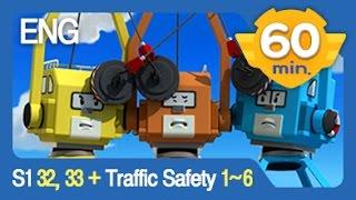 Robocar Poli S1   #32, 33 & Traffic Safety   #1-6 Non Stop   60min