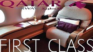 Qatar Airways FIRST CLASS Doha to Paris|Airbus A380