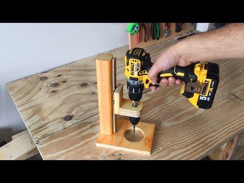 Making a Mobile Drill Press Drill Guide El Yapımı Matkap Kılavuzu