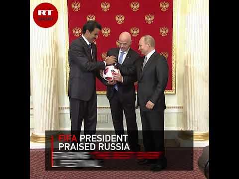 Xxx Mp4 Putin Hands Over The World Cup Host Mantle To Qatari Sheikh Tamim 3gp Sex