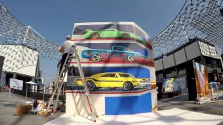 Streetpainting 3D by Leon keer Citywalk Dubai TimeLapse 4K short video