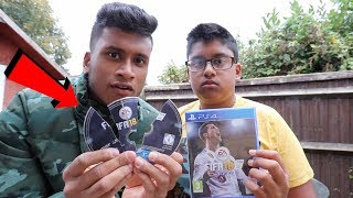 BROKE My Angry Little Brothers Fifa 18 PS4 GAME *PRANK* (THROWS TEMPER TANTRUM)