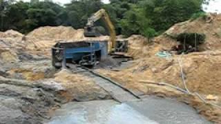 Ghana Gold Series - Trommel operation near Bogoso, Ghana West Africa