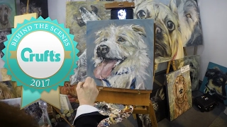 Timelapse PAWtrait of Olly the Jack Russell Terrier   Crufts 2017