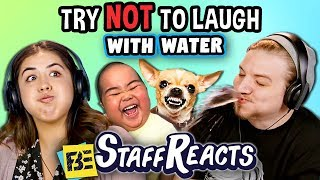 Try To Watch This Without Laughing or Grinning WITH WATER! #6 (ft. FBE Staff)