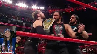 WWE Raw 11/20/17 Roman Reigns vs The Miz