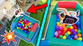 BOUNCE HOUSE FILLED WITH 1,000 BALLOONS! (JUMPING IN!)