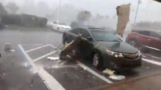 Cat 4 Hurricane Michael - Panama City, FL - Eyewall Footage