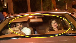 Akshay Kumar and Twinkle Khanna at Bachchan's Diwali Party 2015.