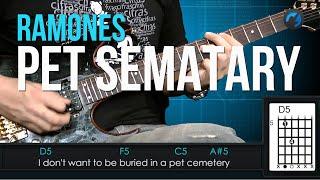 Ramones - Pet Sematary (como tocar - aula de guitarra)