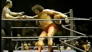 Andre The Giant vs Sgt. Slaughter (1983)