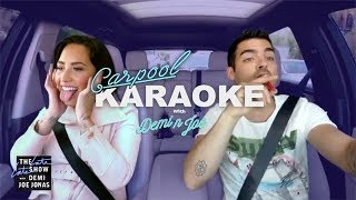 Demi Lovato and Joe Jonas Carpool Karaoke