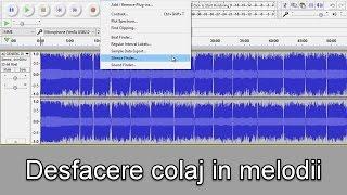 Cum desparti un colaj audio in mai multe melodii