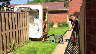 Electric motorized Spa and hot tub mover