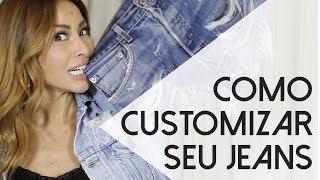 Customizando jeans com Sabrina Sato