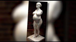 Kim Kardashian's Pregnant Sculpture Unveiled