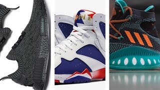 "Free Triple Black NMDs from adidas, a new JORDAN 7 ""Olympic"", BAPE x adi and more on Today in Sneaks"
