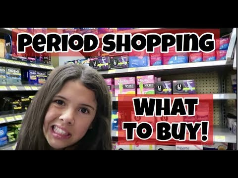 PERIOD SHOPPING BEWARE PADS TAMPONS & CRAMPS