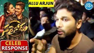Allu Arjun Response - Sarrainodu Movie - Rakul Preet || Catherine Tresa || SS Thaman