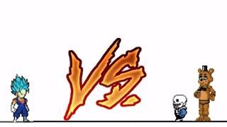 Vegetto Blue vs Sans x Freddy