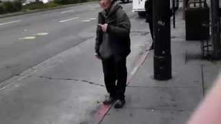Crazy Guy Yelling At Nobody And Slapping Himself In The Face