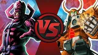 GALACTUS vs UNICRON! (Marvel vs Transformers) Cartoon Fight Club Episode 200! SEASON 2 FINALE!