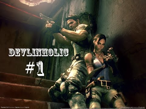 Resident Evil 5 S-Rank Walkthrough #1 Civilian Checkpoint Chapter 1-1