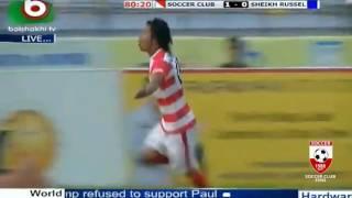 Choumrin Rakhine  1st goal feni soccer vs sheikh rassel #bpl